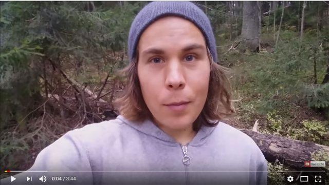 Kuvakaappaus Juuso Simpasen youtubevideosta