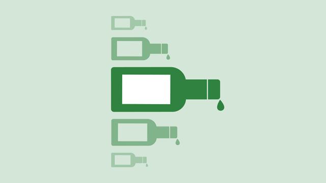 pullon muotoisia hahmoja vihreällä taustalla