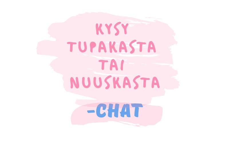Kysy tupakasta tai nuuskasta Fressiksen uudessa chatissa