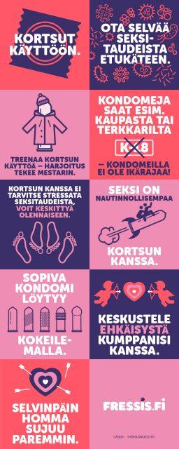 Infografiikka kondomin käytön tärkesydestä seksitautien ehkäisemisessä.